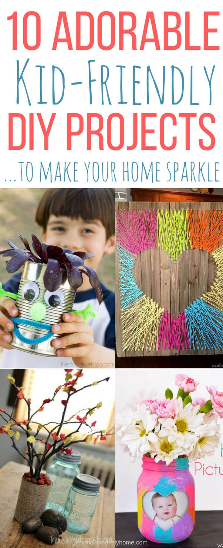 These kid-friendly DIY projects are a fun way to spend quality time with your kids and will help them to put their stamp on your home.