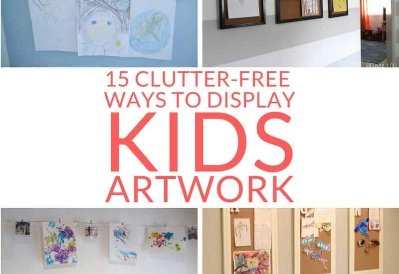 15 Clutter-Free Ways to Display Kids Artwork