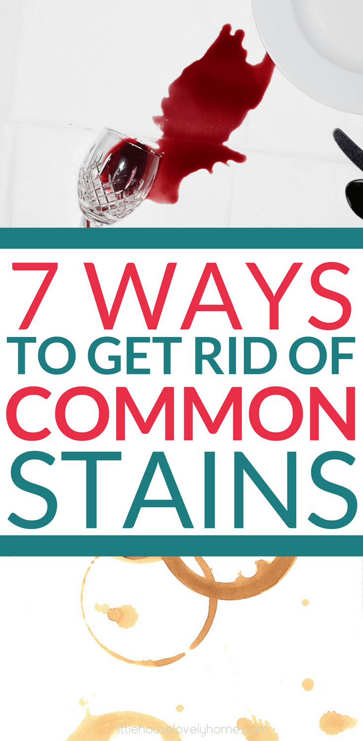 These simple tips for getting rid of stains are so helpful. Most of the ingredients you'll have around your home. Great to know!