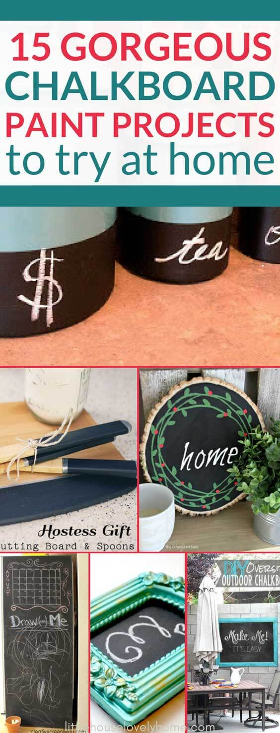 These creative ways to use chalkboard paint in your home are such neat ideas.