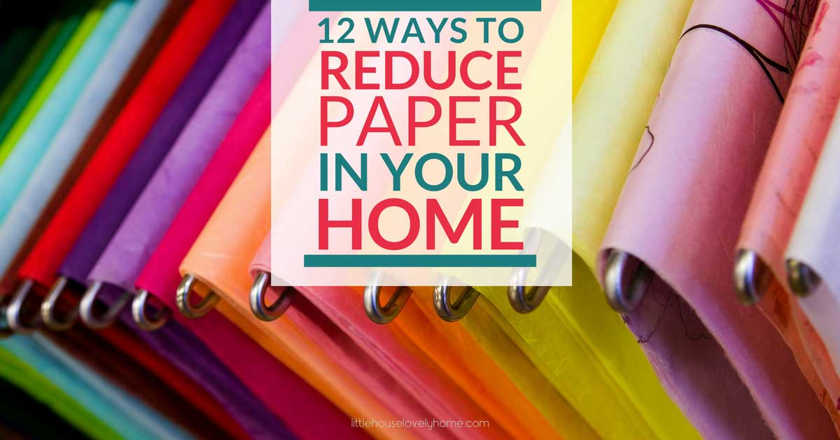 Sometimes I feel like paper is taking over my life! There 12 tips have helped me to reduce paper clutter in my home by over 50%. Check them out!
