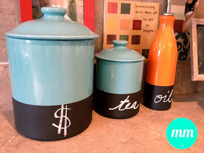 DIY Canister Chalkboard Labels