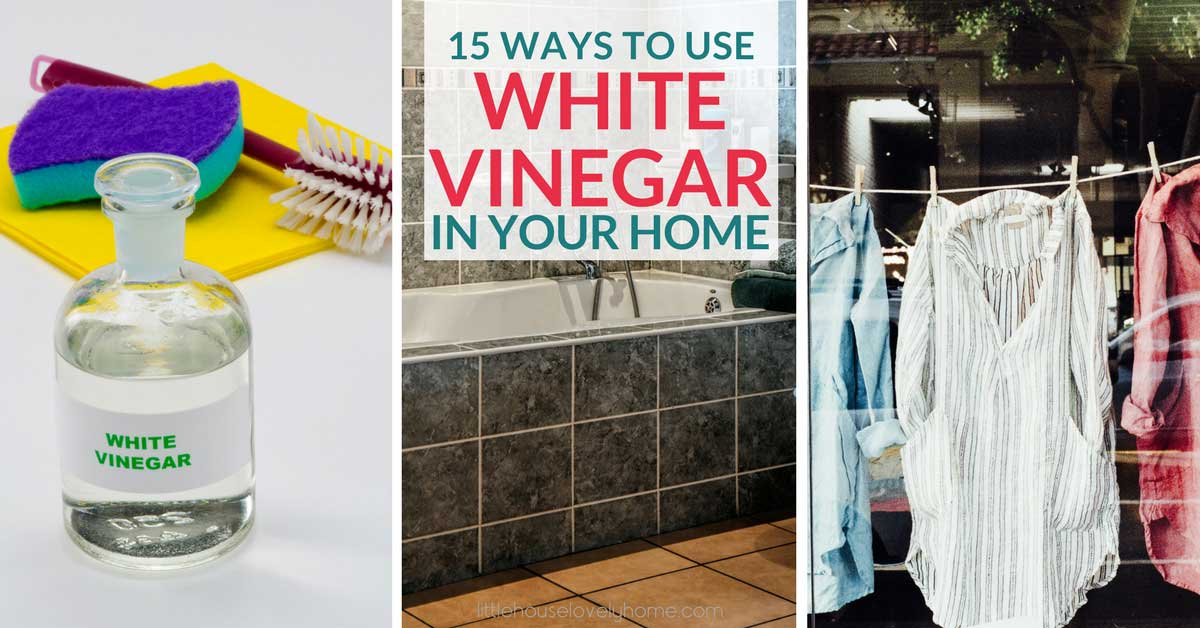 Want to know how to use white vinegar in your home? Click through to find out 15 white vinegar uses.