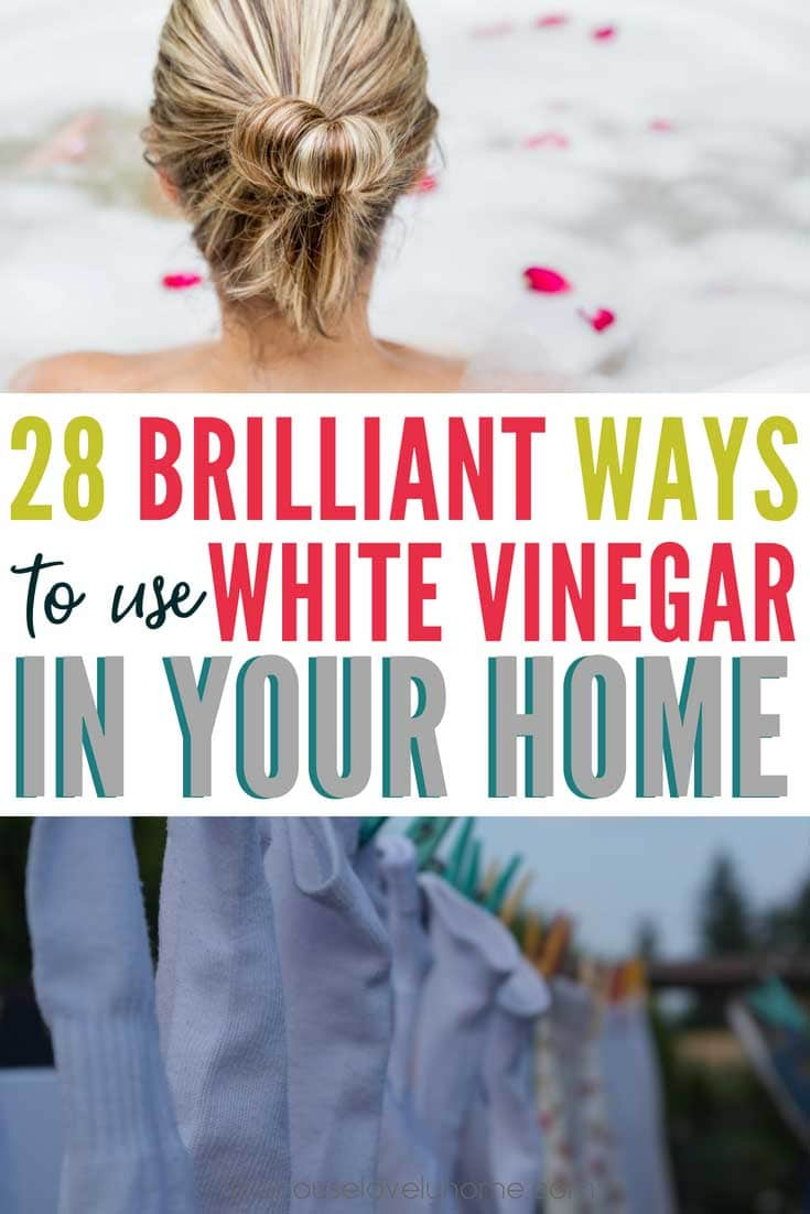 White vinegar uses - there are so many! I had no idea there were so many ways to use white vinegar in the home. I've now replaced almost all of my household cleaners with white vinegar. It's so much safer for my family and much easier on the budget!