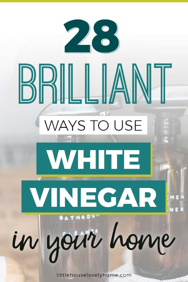 White vinegar has so many uses - not just cleaning. You can use vinegar to soften your cuticles, as a fabric softener and so much more. Everyone should have a bottle of cleaning vinegar or just regular old vinegar in their home. vinegar tips | cleaning tips | natural cleaners