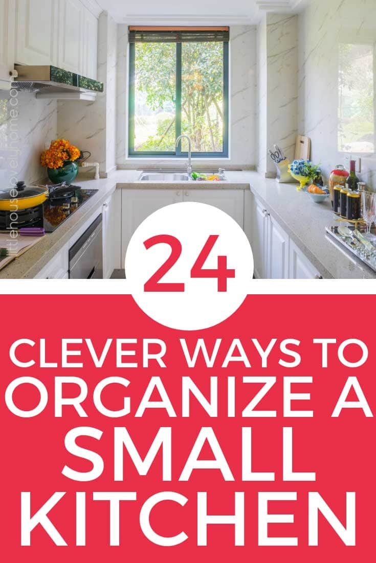 Trying out new kitchen organization ideas in small spaces be extra challenging.Using every available space in your small kitchen will make your kitchen look cluttered. Instead, you need to find a balance of keeping only what you need and use in your kitchen and decluttering or storing the rest.  The following organization ideas for small kitchens include extra storage ideas, space-saving ideas and some just plain genius kitchen ideas for small spaces.