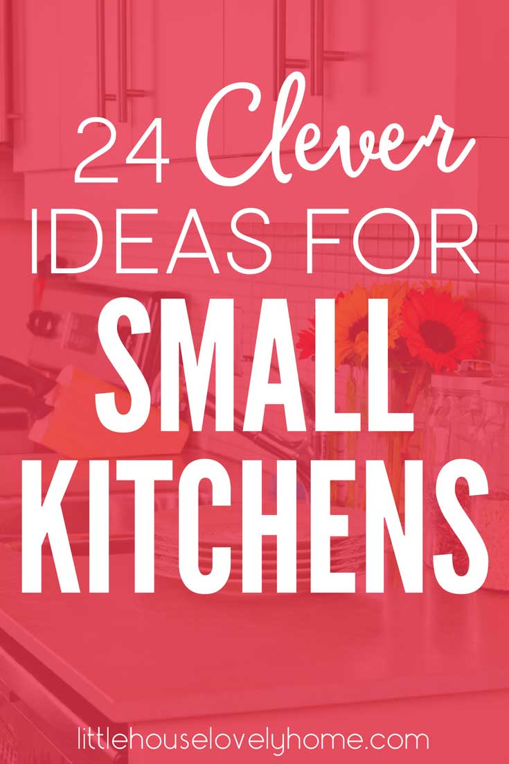 Small kitchen organization ideas. Are you struggling with how to organize a small kitchen? You're not alone. This great list of ways to increase storage and function in a small kitchen is just what you need. #kitchenorganization #smallkitchens #kitchenideas