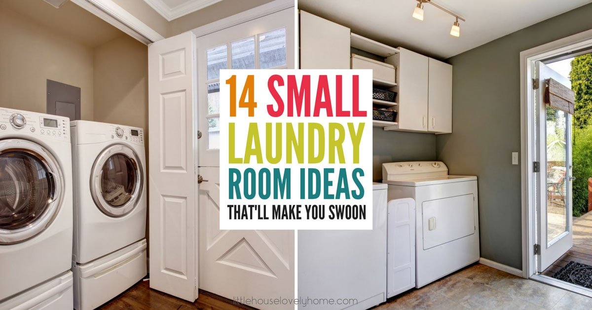 14 small laundry room ideas that'll make you swoon | little house Laundry Area Ideas