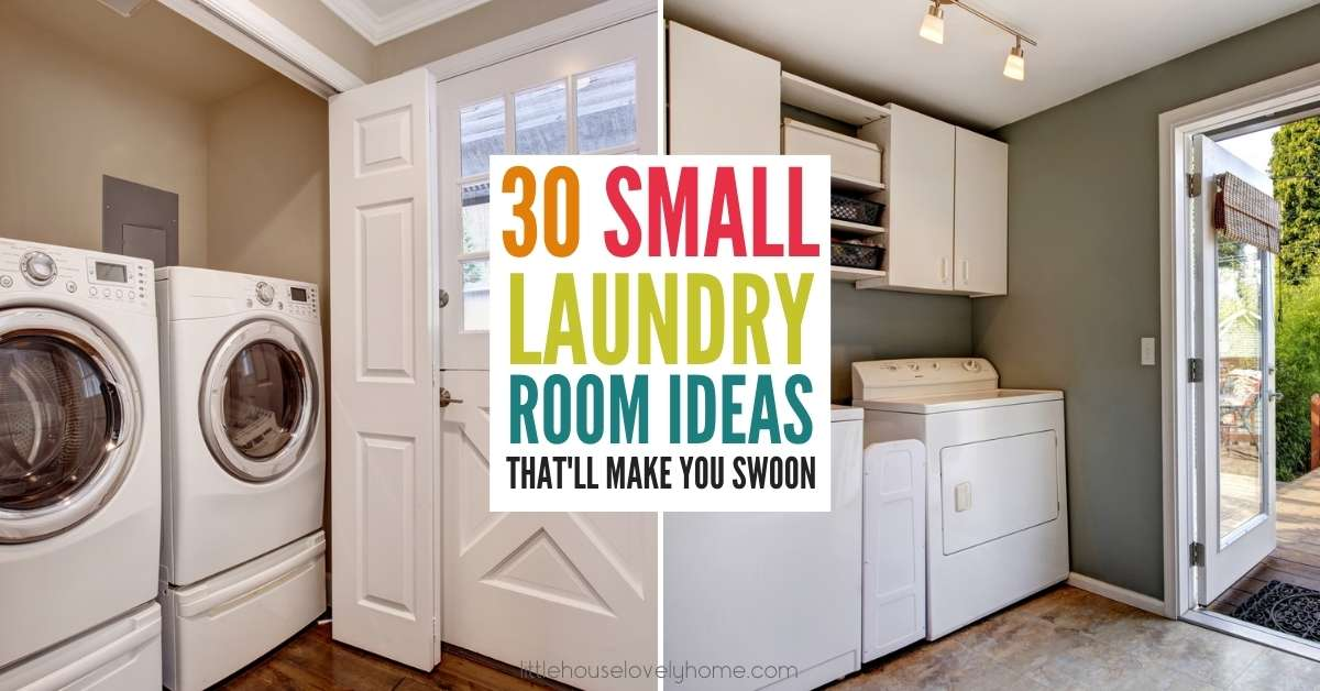 Small laundry room ideas and space-saving tips for a tiny laundry area. If you have a small laundry space but want to get the most out of it, there are some clever ways to maximize the space you have available. Check out these tips for how to use a small laundry and get the most of it for your family.