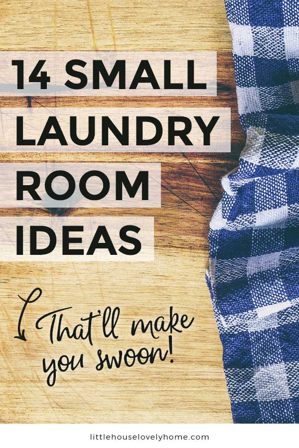 Laundry room ideas text overlay on top of image of counter top and clothing