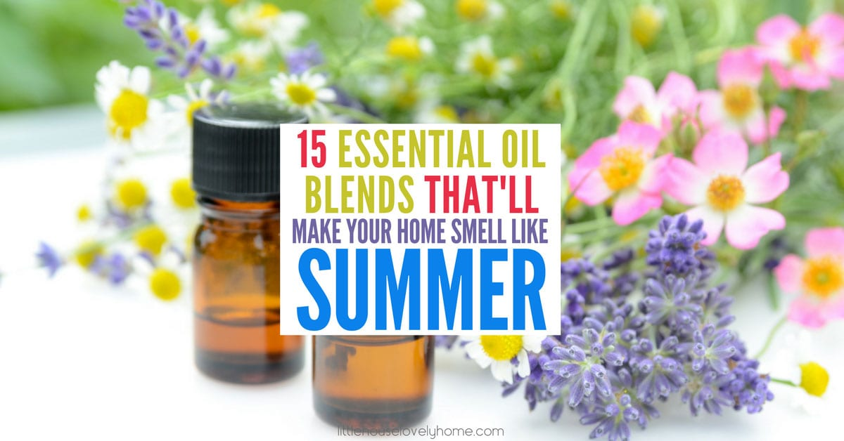 Summer essential oils and blends for summer.