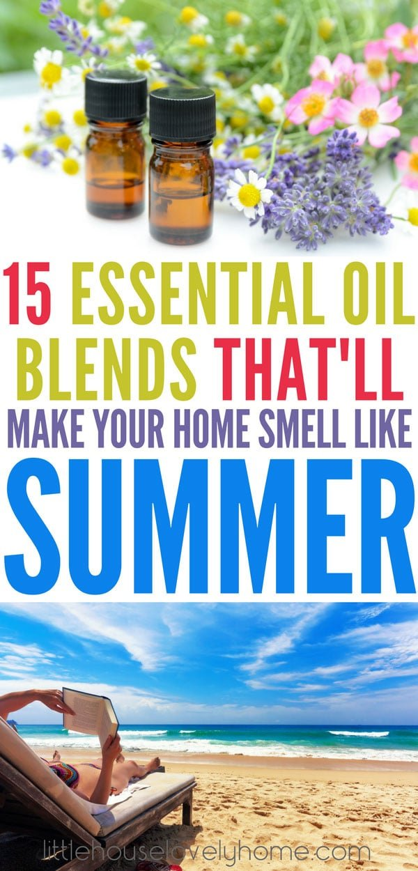 These essential oil blends will make your home smell just like summer - even if it's not quite summer for you yet. Check out these diffusions and find the perfect summer essential oil blends for your home.