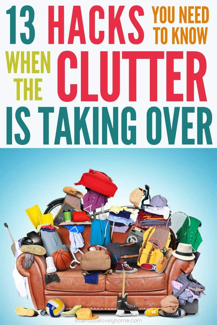 Decluttering tips and ideas for decluttering your home when it's hard. Clear the clutter today with these handy tips from people who've been there. When clutter is overwhelming, you need some help to get started.