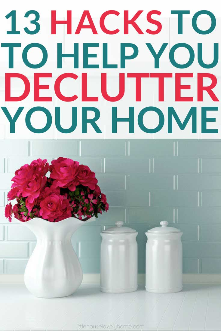 Looking for decluttering hacks? If decluttering your home is one of your goals, these decluttering tips will definitely help you make a plan. Decluttering your home and getting organized makes life so much easier by saving you time, money and your sanity. Click through to find out how these bloggers control the clutter.