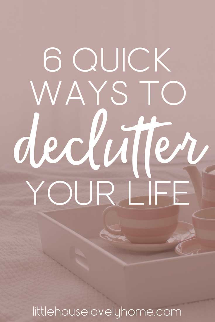 These quick decluttering projects are ideal for when you have some spare time and want to get organized.