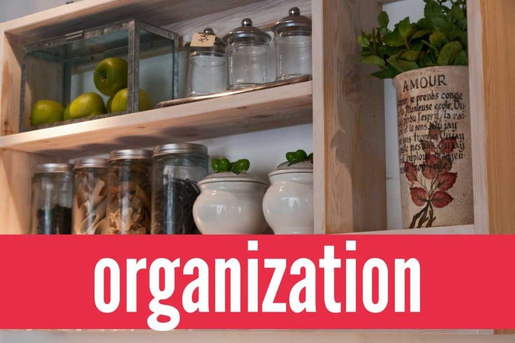 Organization ideas and tips for getting your small home organized.