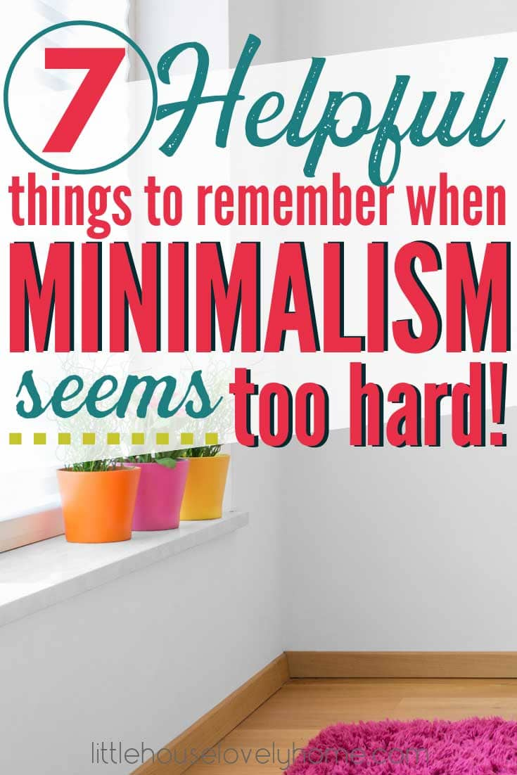 Does minimalism sometimes get you down? Aer you torn between wanting the benefits of a simpler life and the seemingly rigid rules to live by for minimalists? Practical minimalism is the solution I swear by for my family. I'm still frugal, I still buy stuff, heck I still own stuff I don't use - and I'm a minimalist. Click to read how to live a minimalist lifestyle in real life.