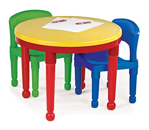 2bfdff90bc90 This play table for toddlers set is made from lightweight plastic making it  easy to move from room to room as required as well as being easy to clean.