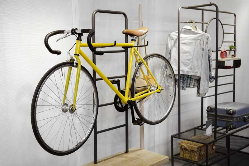 An indoor bike storage rack means you don't have to give up your bike when you live in a small space.