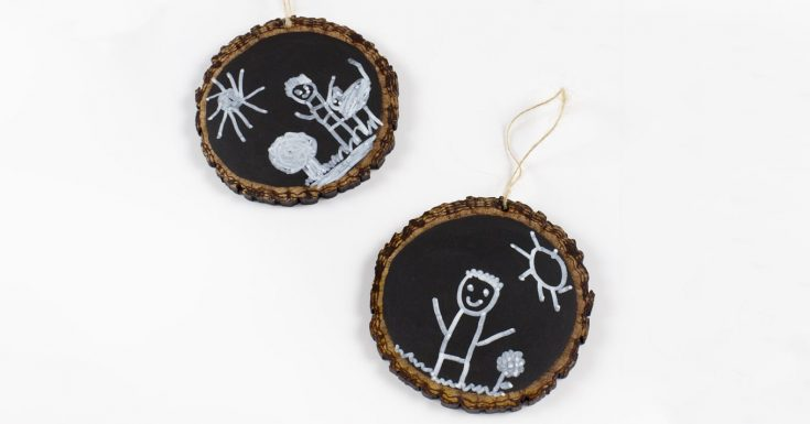 How to Make Easy Keepsake Chalkboard Ornaments