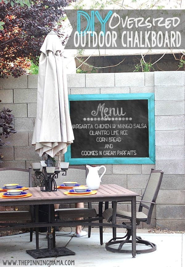 Easy DIY Oversized Outdoor Chalkboard • The Pinning Mama