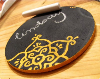 Chalkboard Coasters . How To