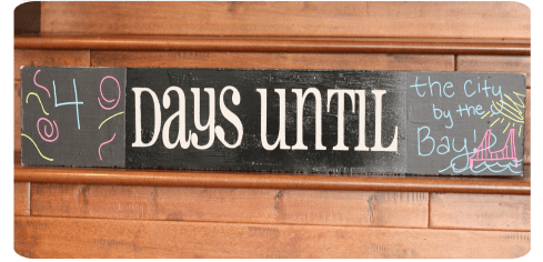 {Tutorial} DIY Chalkboard Countdown Sign • The Pinning Mama