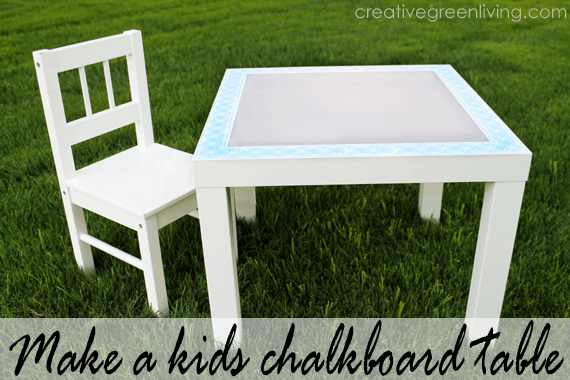 How to Paint a Chalkboard Table for Kids