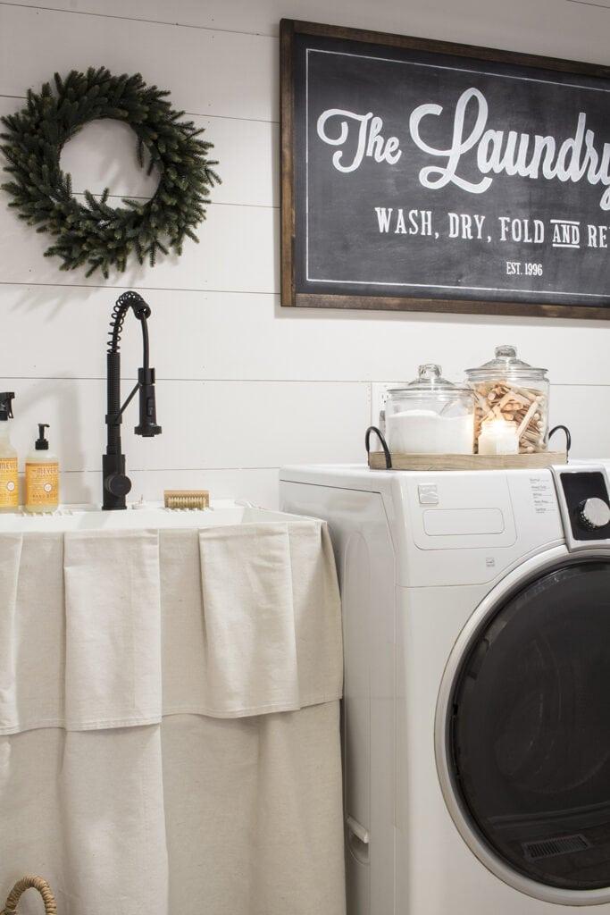Shiplap in a Farmhouse Laundry Room