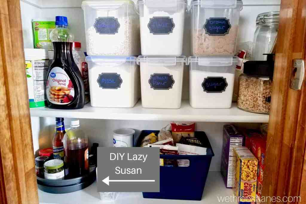 Food in Kitchen Pantry