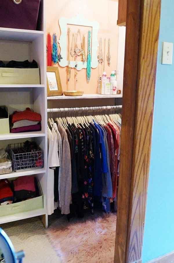 An organized Master closet