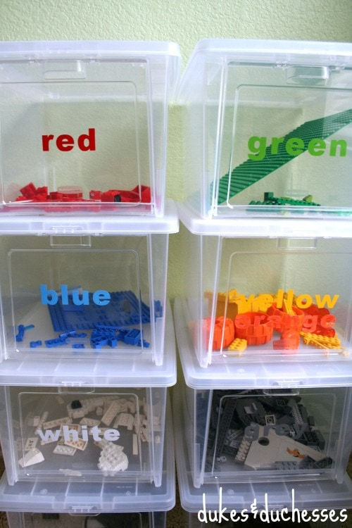 LEGO Storage Organization