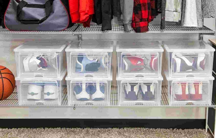 clear storage boxes for shoes