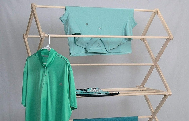 drying rack in small apartment