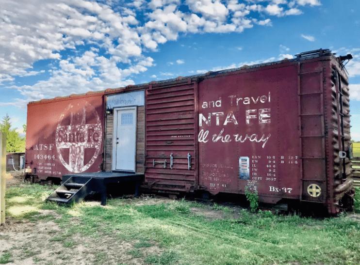Santa Fe Boxcar in Kansas
