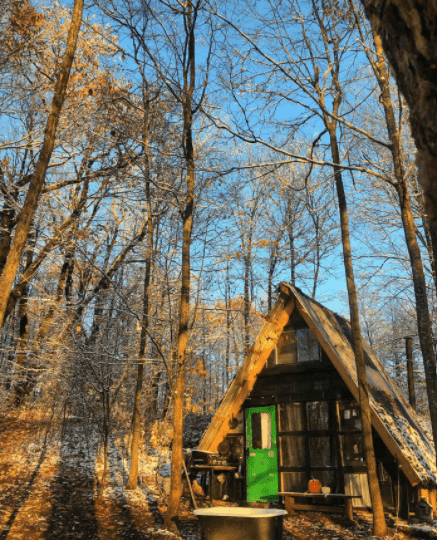 A Frame Tiny House In New York
