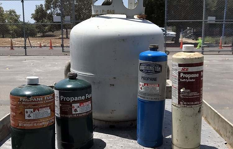 size of propane tanks